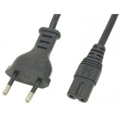 Figure 8 power cable black