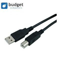 USB kabel Type A B 1.8m zwart